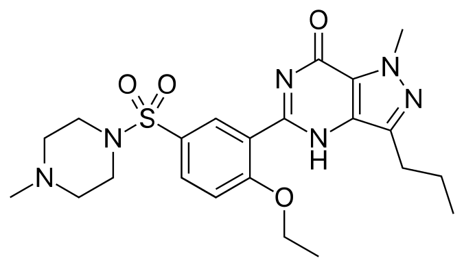 Sildenafil Citrate diagramme moléculaire
